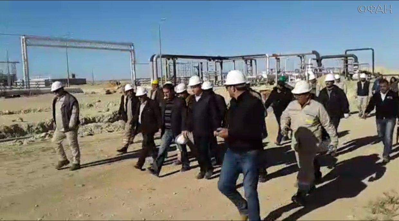Министр Али Ганем синспекцией посетил газовые поля Твенанского завода