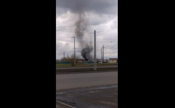 ВКемерове за«Авторынком» загорелись автобус и«Газель»