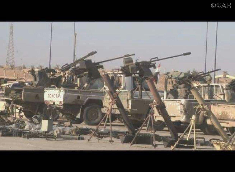 Сирийская армия нашла брошенный террористами склад соружием