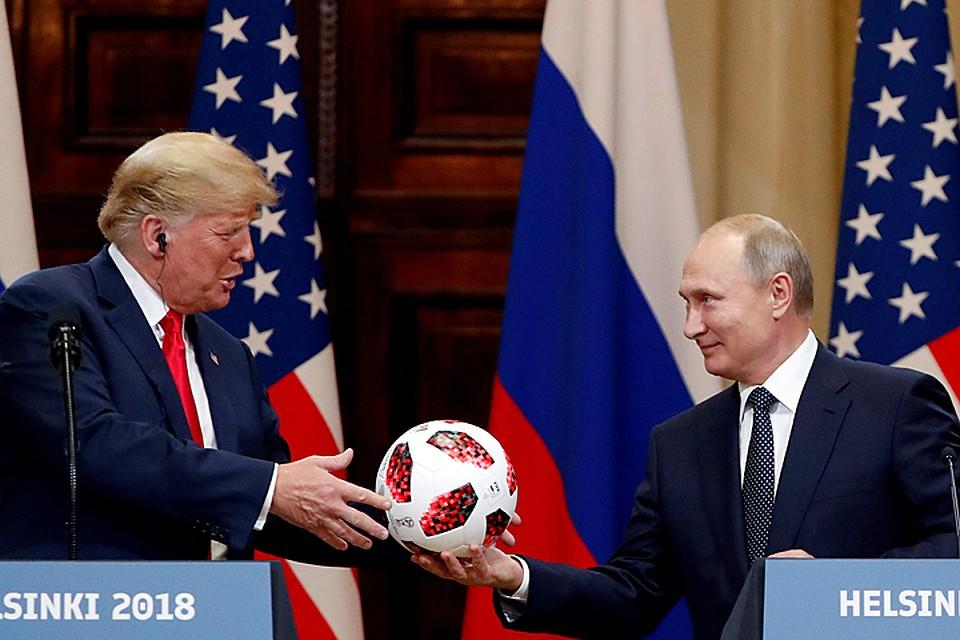 Мяч с«сюрпризом» от Владимира Путина переполошил Белый дом