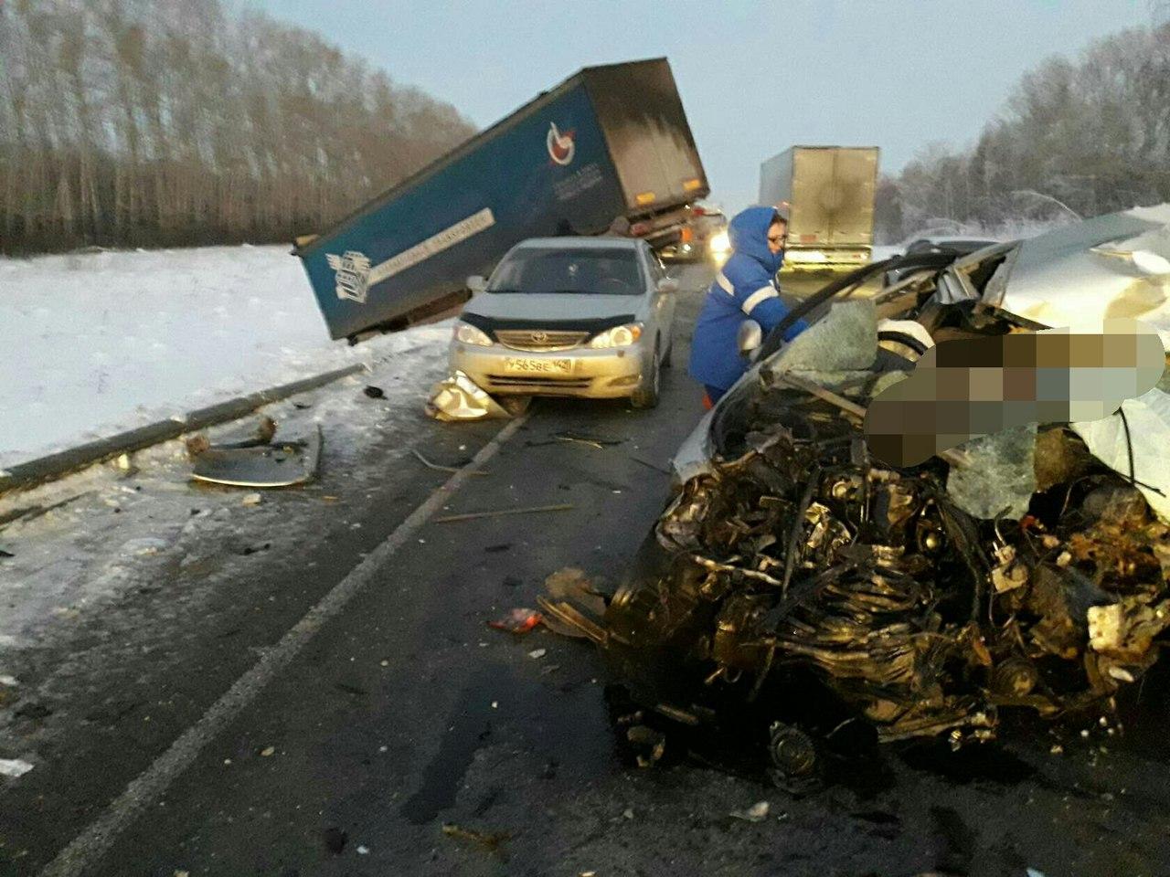 Мужчина умер встрашном ДТП натрассе Кемерово